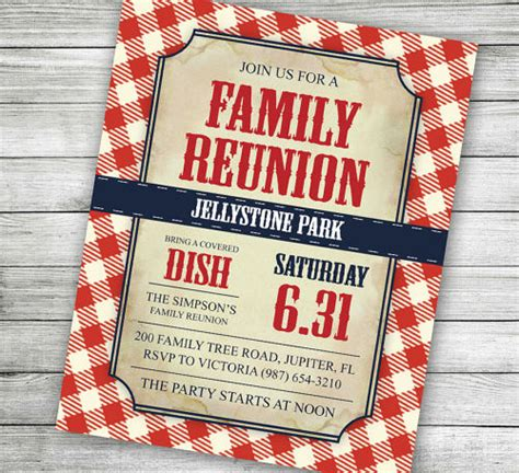34 Family Reunion Invitation Template Free Psd Vector Eps Png Format Download Free Family Reunion Invitation Templates Free