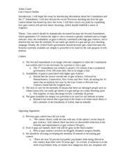 Gun Violence In America Essays by Gun Violence Essay Thesis