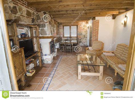 rustikales wohnzimmer rustikales wohnzimmer stockfoto bild 18908840