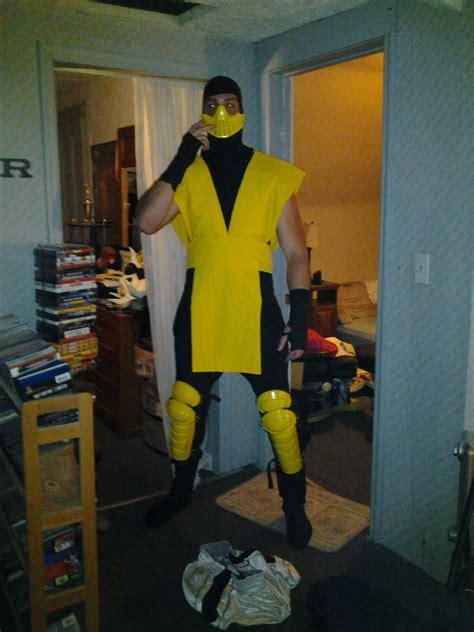 scorpion costume mortal kombat ninja  steps