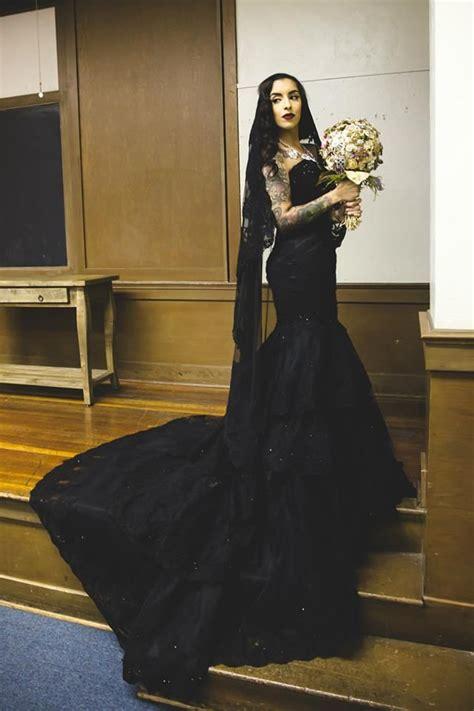 black wedding dress shop buy custom black gothic wedding dress made to order from