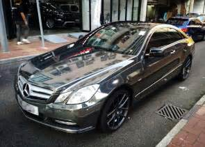tuningcars black chrome mercedes e coupe by impressive wrap
