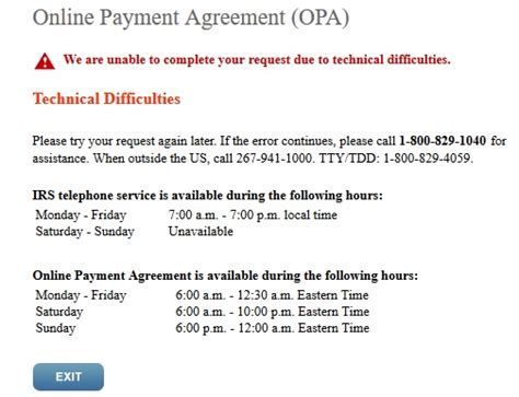 is the irs payment agreement site absolute
