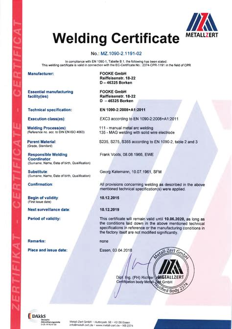 welding certification letter awesome collection of cfc certification business cards