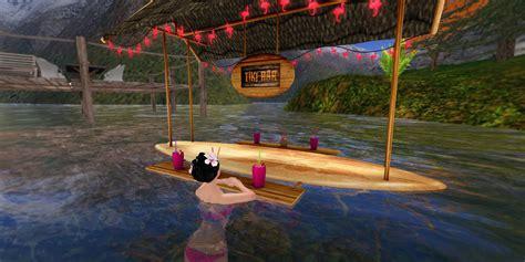 Floating Tiki Bar Lark Floating Surfboard Tiki Bar Lark
