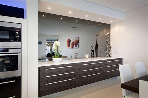 Grey Kitchen Design Mirrorkote Smoked Mirror Splashback Perth Wa Glasskote