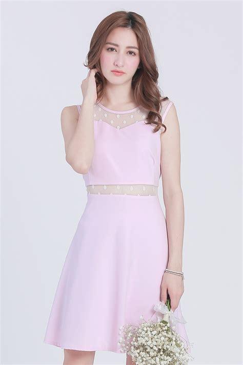 Jfashion Korean Style Midi Dress Motif Dotted yoco womens sleeveless dress with dotted sheer inserts japanese korean fashion ebay