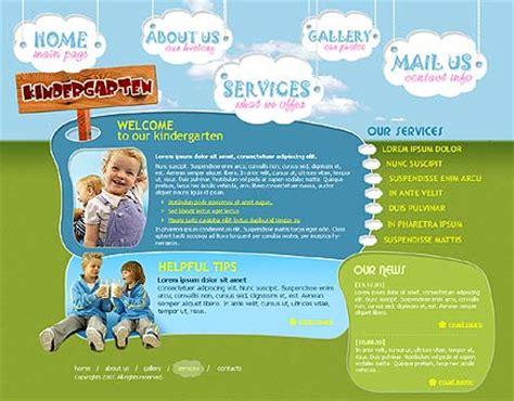 free preschool website templates kindergarten flash template id 300109853 from simavera