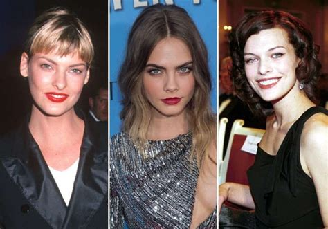 milla jovovich now then linda evangelista and also milla jovovich now