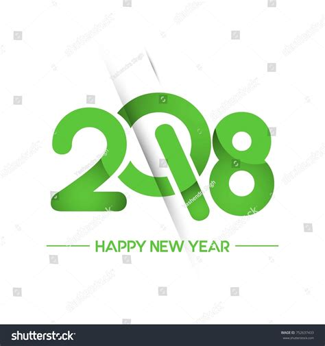happy new year text vector happy new year 2018 text design stock vector 752637433