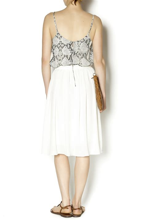olivaceous ivory midi skirt from miami by chica