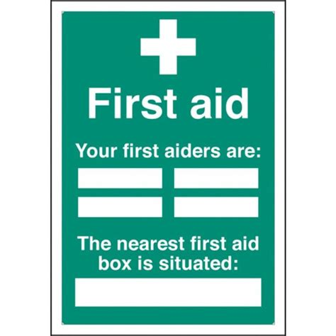 first aiders first aid box signs with a4 printable