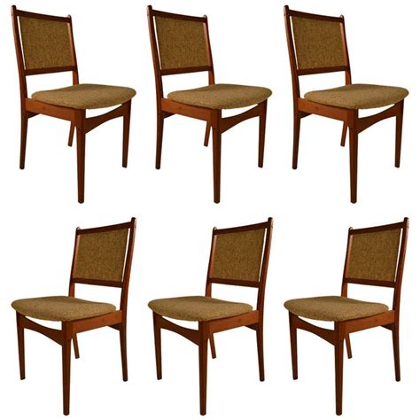 set of six danish modern dining chairs at 1stdibs danish modern set of six teak dining chairs for sale at