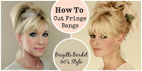 how to cut bang step by step process with picture how to cut fringe bangs demo brigitte bardot 60 s style