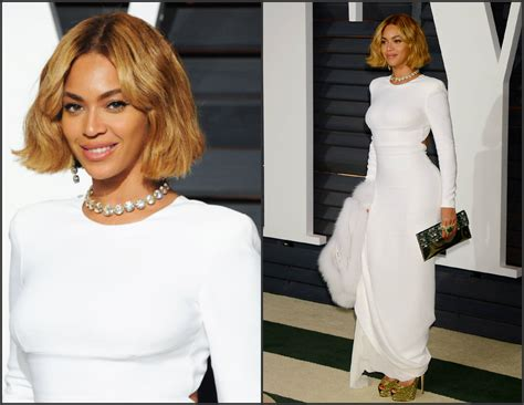 Beyonce Vanity Fair by Beyonce Knowles In Stella Mccartney At The 2015 Vanity Fair Oscar Fashion Sizzle
