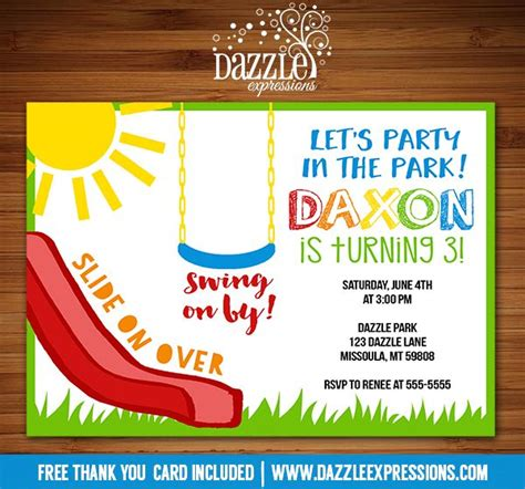 swings and things birthday party 25 best ideas about playground birthday parties on