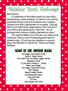 Gift Exchange Letter To Parents Letters Book And On