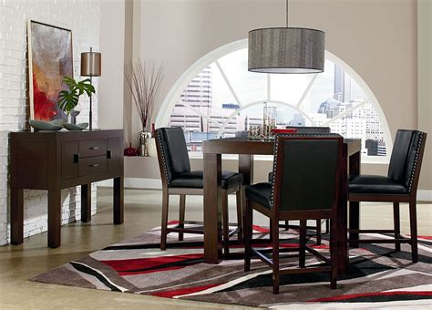 Chocolate Brown Dining Room by Couture Elegance Chocolate Brown 42 Quot Square Counter Ht Dining Set From Standard 10571