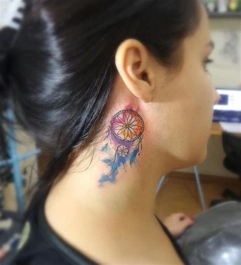dream catcher tattoo neck meaning 50 dreamcatcher tattoo best designs with meaning