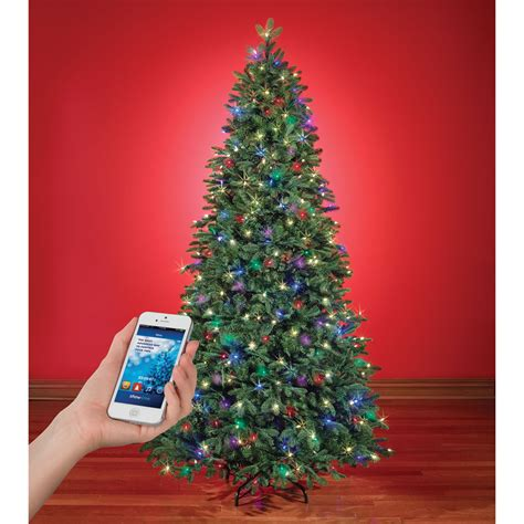 the music and light show wi fi christmas tree hammacher