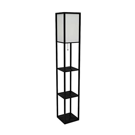 simple designs lf1014 blk floor l etagere organizer