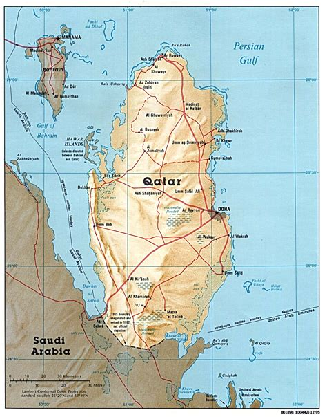 middle east map qatar map of qatar