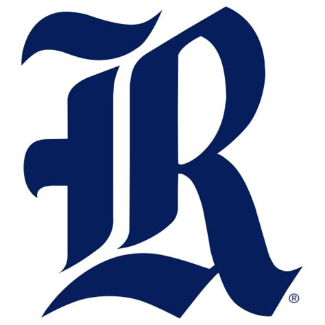 logo rice university owls blue r fanapeel