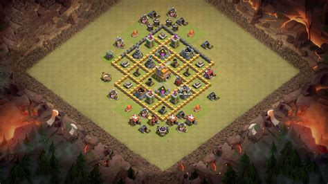coc town hall 7 best base for town hall 7 clash of clans th7 coc best base