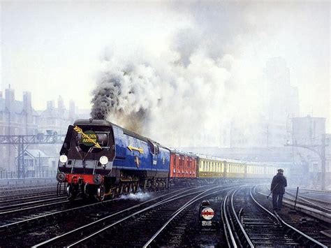 painting trains railroad steam painting by howard fogg 26
