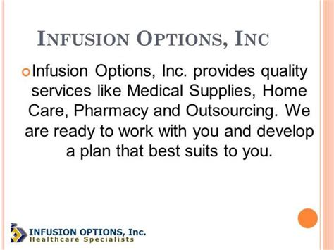 infusion options inc authorstream