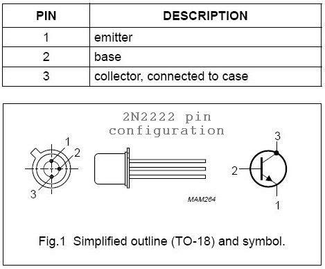 datasheet transistor pnp 2n2222 2n2222 datasheet