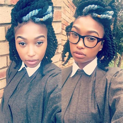 mzansi celebrities with short hair zola s chunky yarn twist switch up yay or nay