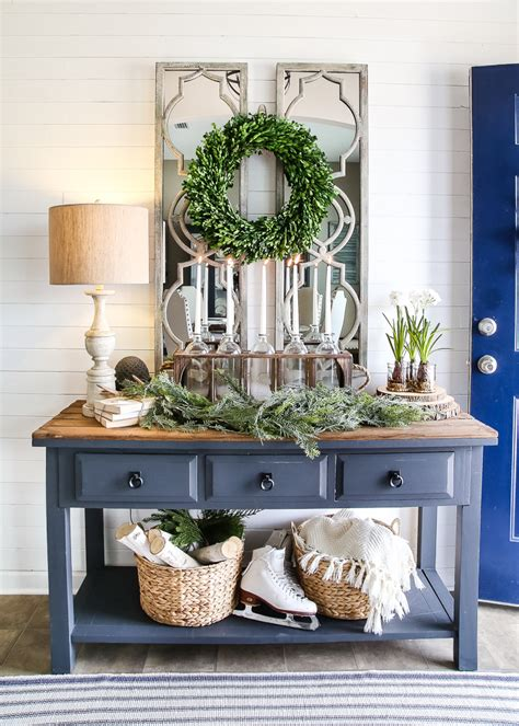 entry decor 6 after christmas winter foyer decorating ideas