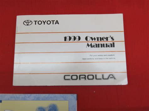 Toyota Corolla Book 1999 Toyota Corolla Owners Manual Guide Book Ebay