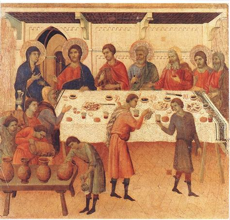 Wedding At Cana Renaissance by Wedding At Cana By Duccio Early 14th Century Marian