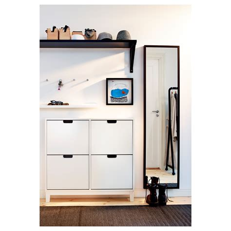 st 196 ll shoe cabinet with 4 compartments white 96x90 cm ikea
