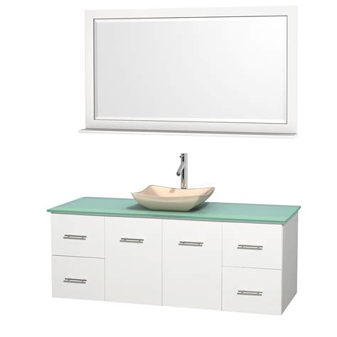green vanity bathroom wyndham collection wcvw00960swhgggs2m58 centra 60 inch single bathroom vanity in white
