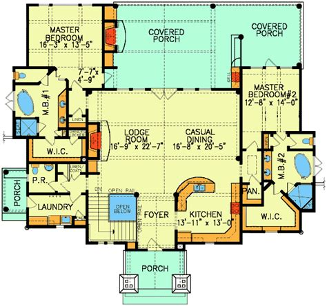 dual master bedroom floor plans dual master suites 15800ge architectural designs