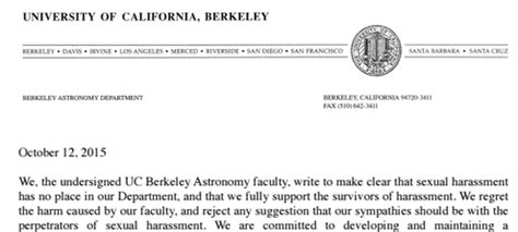 College Confidential Uc Berkeley Letter Of Recommendation Geoffrey Marcy S Berkeley Astronomy Colleagues Call For His Dismissal The New York Times