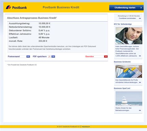 Postbank Business Kredit Direkt Test Und