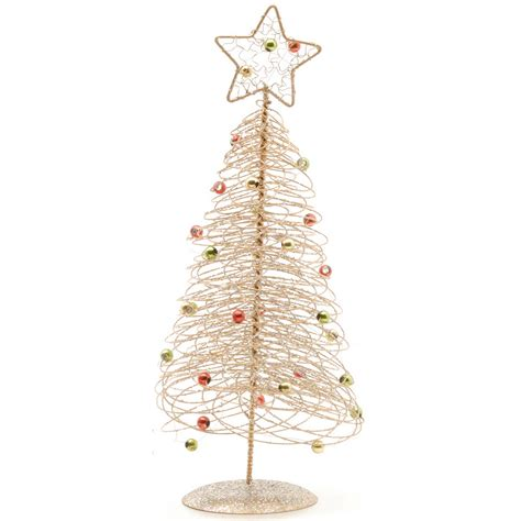 christmas shop spiral wire table top trees ebay