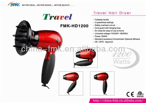 Mini Hair Dryer Diffuser professional mini travel hair dryer with diffuser view