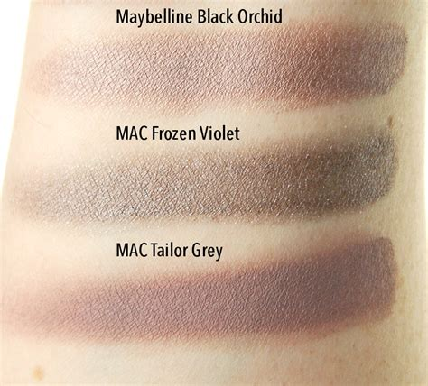 maybelline color tattoo swatches maybelline black orchid color review swatch and