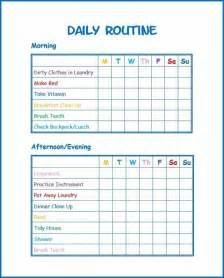 Daily Routine Template by Use This Free Daily Routine Printable To Develop