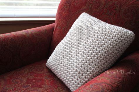 Crochet Pillow Patterns For Beginners by Bulky Chunky Pillow Beginner Crochet Pattern Pdf