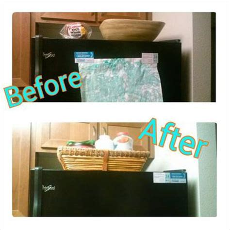 top of fridge storage declutter refrigerator front top to make a huge