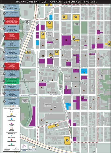 san jose development map the san jose downtown san jose development projects map