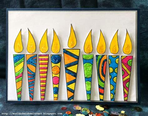 Handmade Hanukkah Cards - stencilgirl talk using stencils to make hanukkah cards
