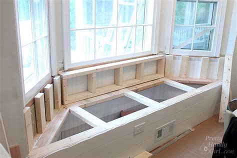 building bench seating building a window seat with storage in a bay window