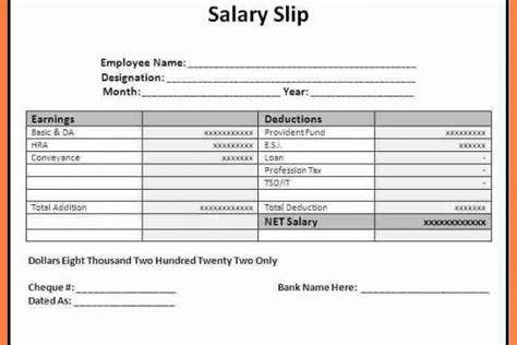 salary certificate format pdf download gallery